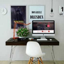 Poster Dosarele Dresden #1 in birou