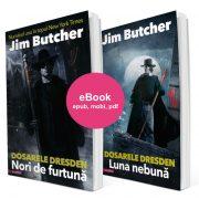 Pachet EBOOK - DRESDEN FILES #1+#2, Nori de furtună, Luna nebună, de Jim Butcher, în traducerea Anei Veronica Mircea